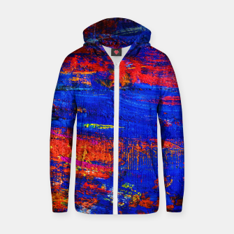 Colored Abstract Painting Artwork Zip up hoodie thumbnail image