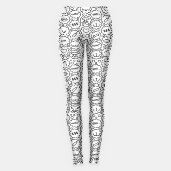 Thumbnail image of Thought Bubbles Funny Sexy Comic Illustration Leggings, Live Heroes
