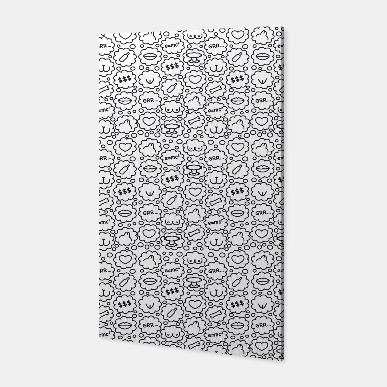 Image of Thought Bubbles Funny Sexy Comic Illustration Canvas - Live Heroes