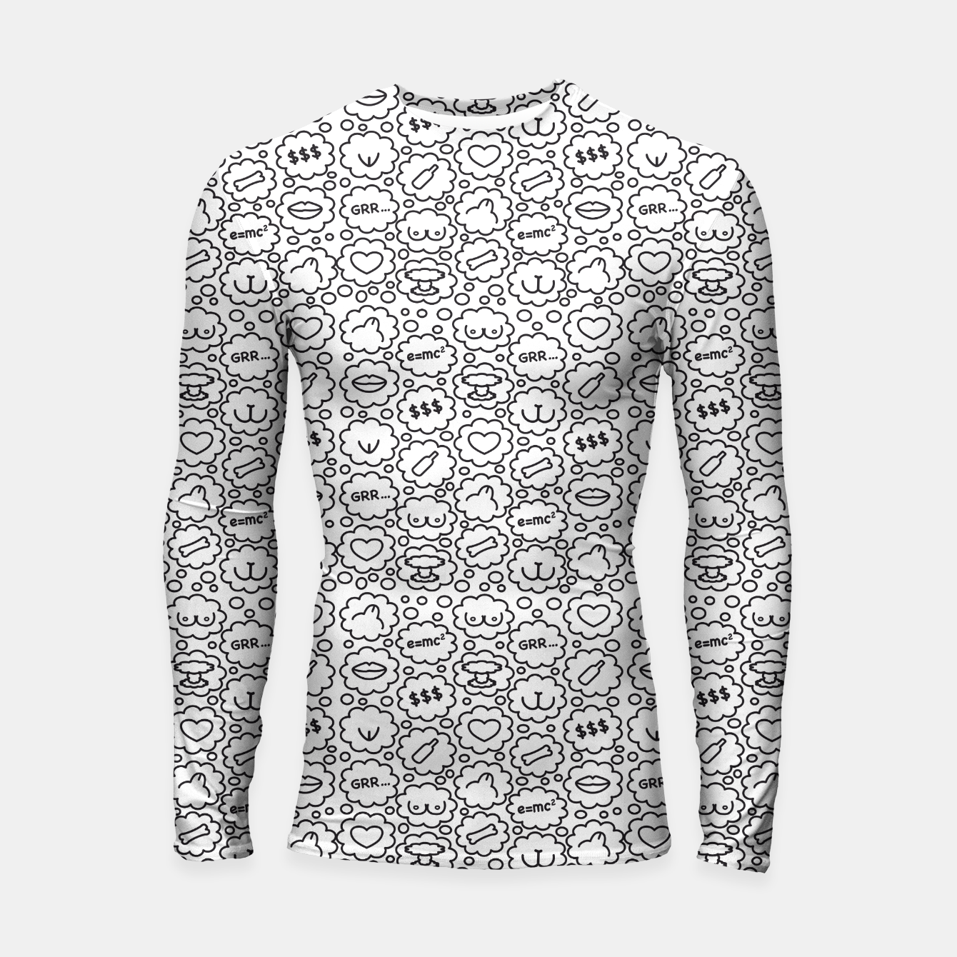 Zdjęcie Thought Bubbles Funny Sexy Comic Illustration Longsleeve rashguard - Live Heroes