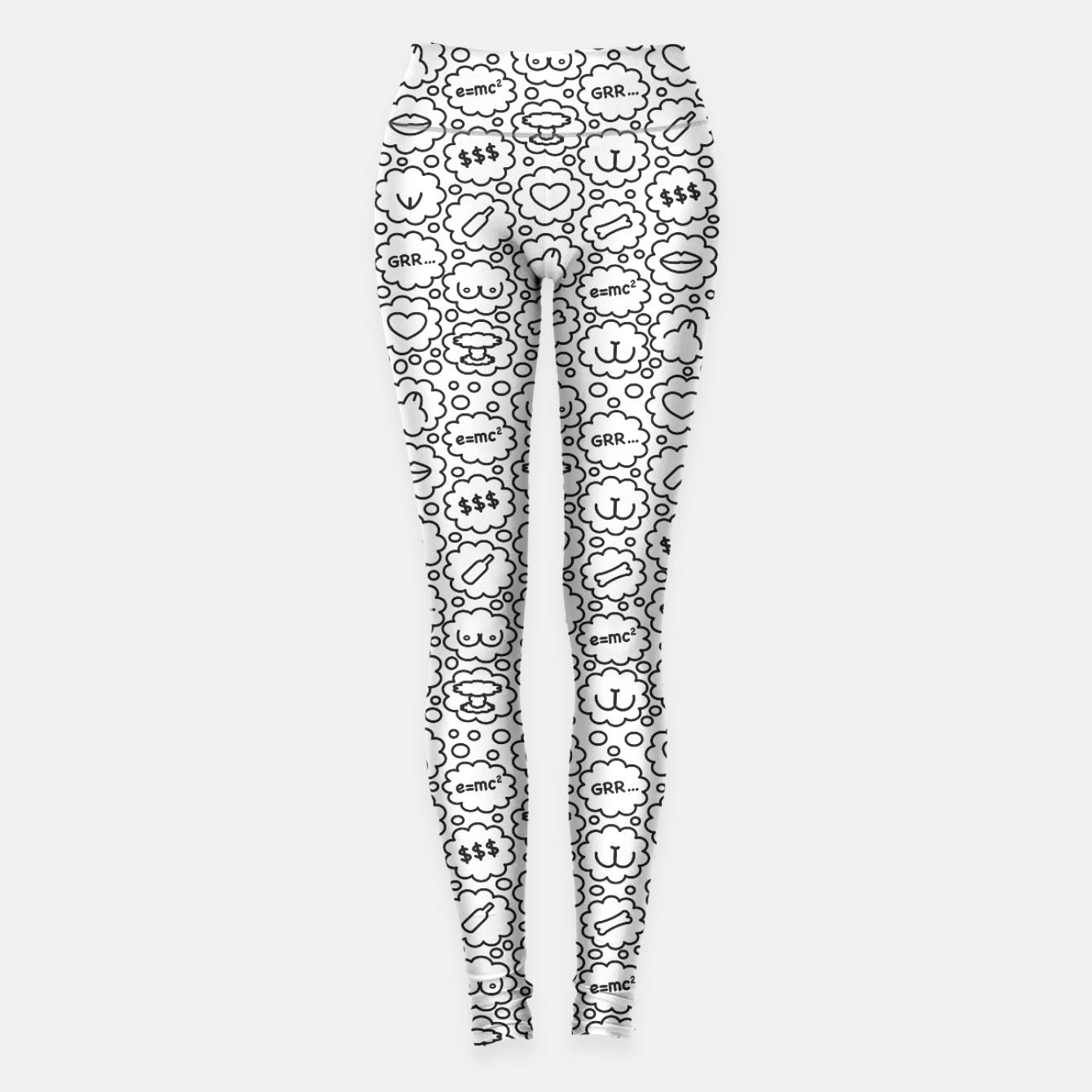 Image of Thought Bubbles Funny Sexy Comic Illustration Leggings - Live Heroes