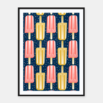 Thumbnail image of Popsicle Party Stripes Cartel con marco, Live Heroes