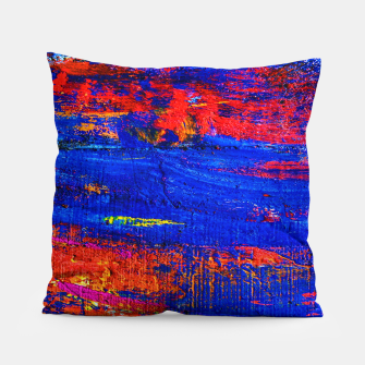 Colored Abstract Painting Artwork Pillow thumbnail image