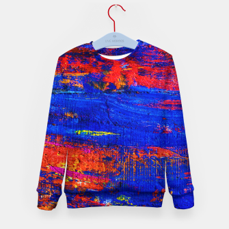 Colored Abstract Painting Artwork Kid's sweater thumbnail image