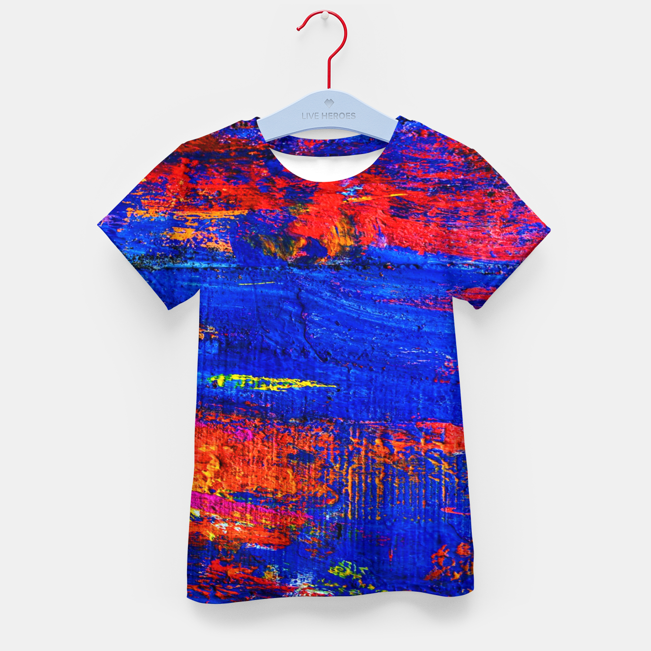 Image of Colored Abstract Painting Artwork Kid's t-shirt - Live Heroes