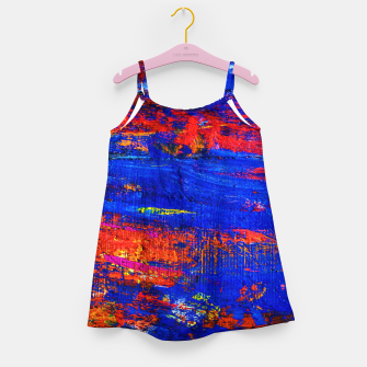 Colored Abstract Painting Artwork Girl's dress thumbnail image
