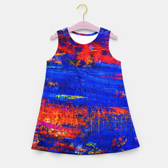 Colored Abstract Painting Artwork Girl's summer dress thumbnail image
