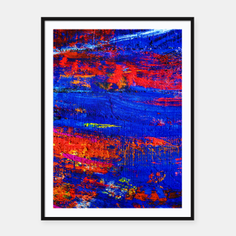 Colored Abstract Painting Artwork Framed poster thumbnail image