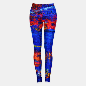Colored Abstract Painting Artwork Leggings thumbnail image