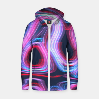 Thumbnail image of Weird Lights Pattern Zip up hoodie, Live Heroes