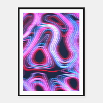 Thumbnail image of Weird Lights Pattern Framed poster, Live Heroes