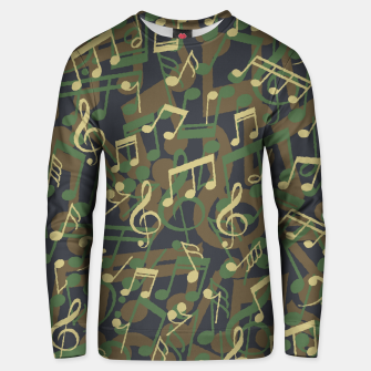 Thumbnail image of Music Note Camo WOODLAND Unisex sweater, Live Heroes