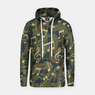 Thumbnail image of Music Note Camo WOODLAND Hoodie, Live Heroes