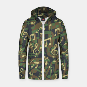 Thumbnail image of Music Note Camo WOODLAND Zip up hoodie, Live Heroes