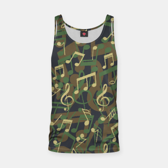 Thumbnail image of Music Note Camo WOODLAND Tank Top, Live Heroes