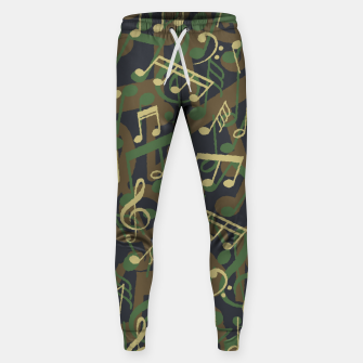 Thumbnail image of Music Note Camo WOODLAND Sweatpants, Live Heroes