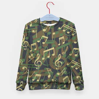 Thumbnail image of Music Note Camo WOODLAND Kid's sweater, Live Heroes