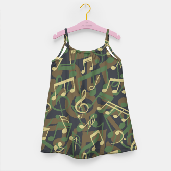 Thumbnail image of Music Note Camo WOODLAND Girl's dress, Live Heroes