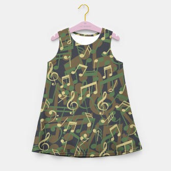 Thumbnail image of Music Note Camo WOODLAND Girl's summer dress, Live Heroes