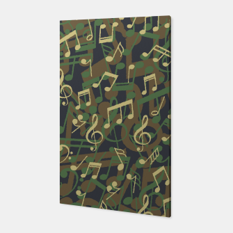 Thumbnail image of Music Note Camo WOODLAND Canvas, Live Heroes