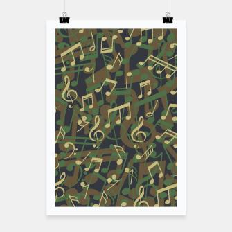 Thumbnail image of Music Note Camo WOODLAND Poster, Live Heroes