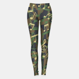 Thumbnail image of Music Note Camo WOODLAND Leggings, Live Heroes