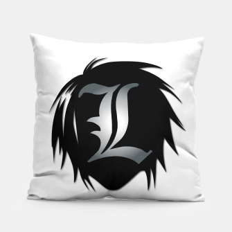 "Thumbnail image of ""L"" D Note  Pillow, Live Heroes"