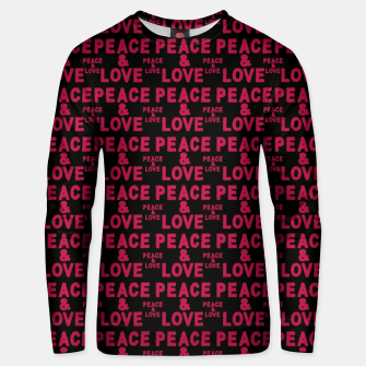 Thumbnail image of Peace and Love Typographic Pattern Unisex sweater, Live Heroes
