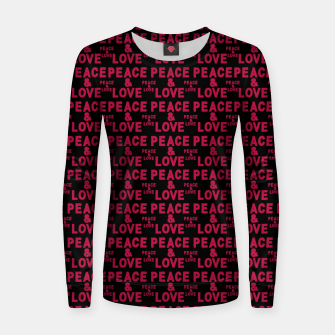 Thumbnail image of Peace and Love Typographic Pattern Women sweater, Live Heroes