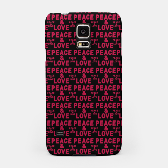 Thumbnail image of Peace and Love Typographic Pattern Samsung Case, Live Heroes