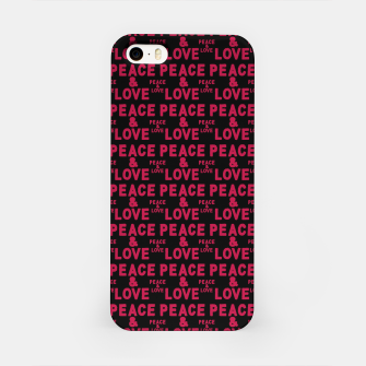 Thumbnail image of Peace and Love Typographic Pattern iPhone Case, Live Heroes