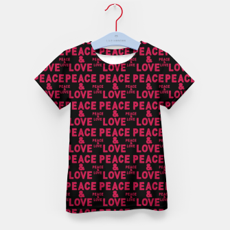 Thumbnail image of Peace and Love Typographic Pattern Kid's t-shirt, Live Heroes