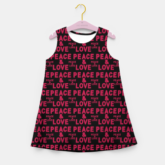 Thumbnail image of Peace and Love Typographic Pattern Girl's summer dress, Live Heroes