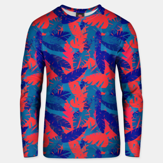 Thumbnail image of Leaves in Blue and Red – Unisex sweater, Live Heroes