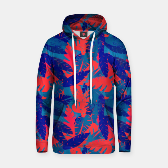 Thumbnail image of Leaves in Blue and Red – Hoodie, Live Heroes