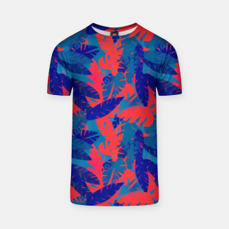 Thumbnail image of Leaves in Blue and Red – T-shirt, Live Heroes