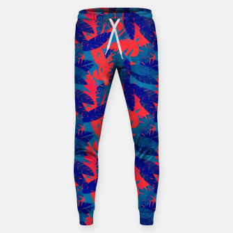 Thumbnail image of Leaves in Blue and Red – Sweatpants, Live Heroes
