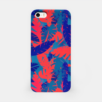 Thumbnail image of Leaves in Blue and Red – iPhone Case, Live Heroes