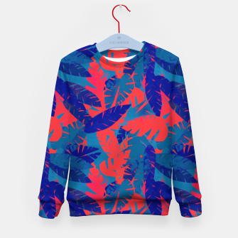 Thumbnail image of Leaves in Blue and Red – Kid's sweater, Live Heroes