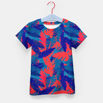 Thumbnail image of Leaves in Blue and Red – Kid's t-shirt, Live Heroes