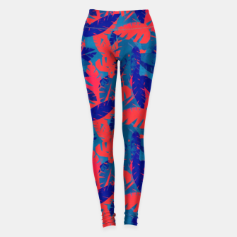 Thumbnail image of Leaves in Blue and Red – Leggings, Live Heroes