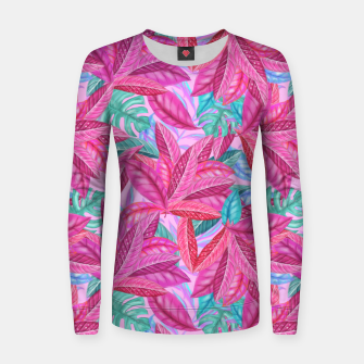 Thumbnail image of Pink Jungle Women sweater, Live Heroes