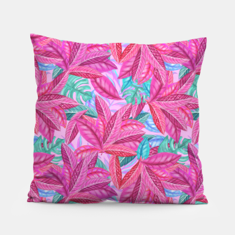 Thumbnail image of Pink Jungle Pillow, Live Heroes