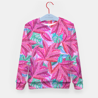 Thumbnail image of Pink Jungle Kid's sweater, Live Heroes