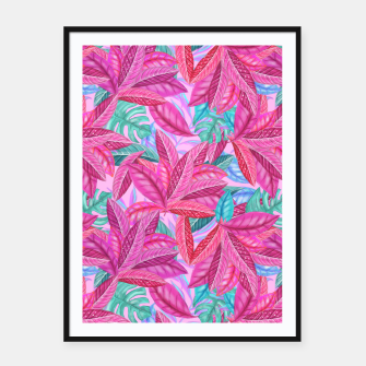 Thumbnail image of Pink Jungle Framed poster, Live Heroes