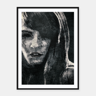 Thumbnail image of Creepy Artistic Woman Portrait Framed poster, Live Heroes