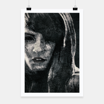 Thumbnail image of Creepy Artistic Woman Portrait Poster, Live Heroes