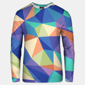 Thumbnail image of Colorful geometric kaleidoscope pattern Unisex sweater, Live Heroes