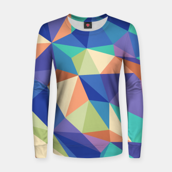 Thumbnail image of Colorful geometric kaleidoscope pattern Women sweater, Live Heroes