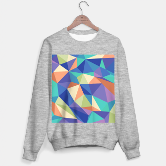 Thumbnail image of Colorful geometric kaleidoscope pattern Sweater regular, Live Heroes